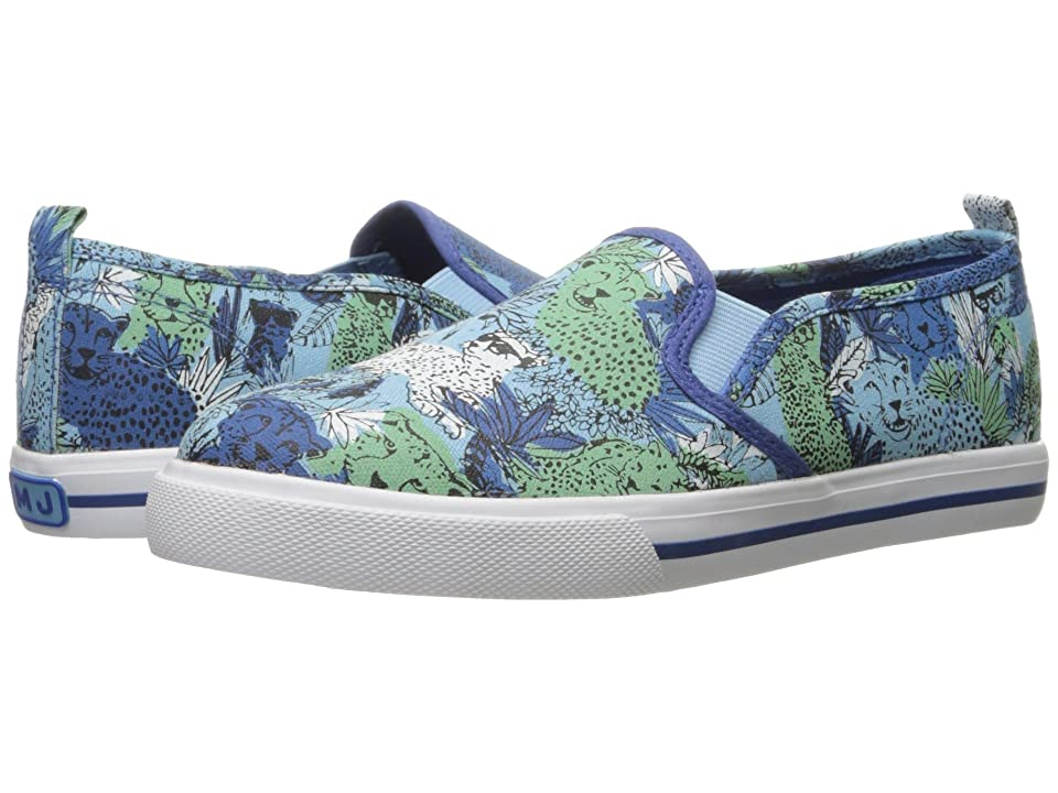 Little Marc Jacobs All Over Printed Slip-On (Toddler/Little Kid/Big Kid) (Bleu/Vert) Boys Shoes