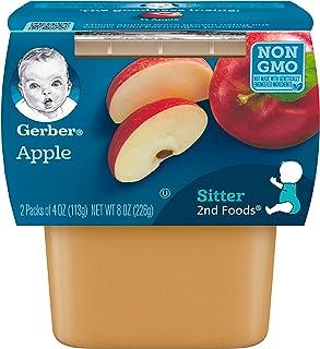 Gerber 2nd Foods Apples, 4 oz Tubs, 2 Count (Pack of 8)