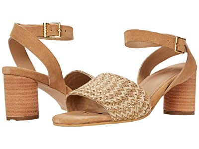 KAANAS Rosario Heel with Woven Braided Upper (Natural) Women