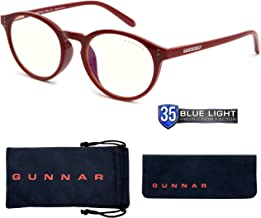 $68 » Gaming Glasses   Blue Light Blocking Glasses   Attache/Dark Red by Gunnar   35% Blue Light Protection, 100% UV Light, Anti...