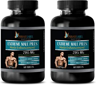 Male Enhancing Pills Increase Size and Girth - Extreme Male Pills 2185 Mg - Extra Strength Formula - longjack Extract supp...