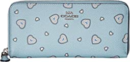 Slim Accordion Wallet with Western Heart Print