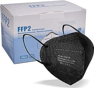 blackpoolal FFP2 CE 2163, Mascarilla de Protección Respiratoria - Protectora Respirador Antipolvo Homologada 5 capas. Alta...