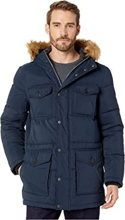 Micro-Twill Four-Pocket Long Parka