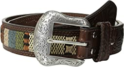 Nocona Tooled Tab Southwest Inlay Belt