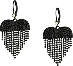 Fringe Heart Drop Earrings