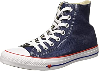 Converse Women's Textile Indigo/Enamel Red/Blue Sneakers-6 UK/India (39 EU) (8907788162529)