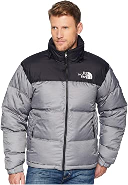 The north face nuptse jacket tnf medium grey heather tnf black ... 165bb3ffa