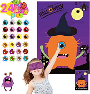 Funnlot Halloween Party Games for Kids Pin The Eye on The Monster Game Halloween Party Favors and Games Halloween Hallowe...