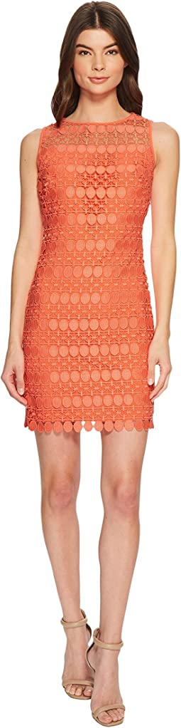 Petite Melia Circlet Geo Lace Dress