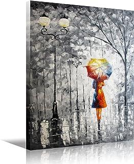 Arte HD enmarcado estampados de pintura al óleo sobre lienzo, dama lienzo pared bajo el paraguas de la sala de estar dormitorios adornos pared decoración 12x16inch 1pc (los 30x40cm)