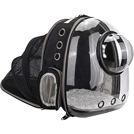 AJY Pet Clear Cat Backpack Carrier Foldable Breathable Pet Rucksack Carrier for Puppy Dog Cat Lightweight Cat Backpack Designed for Travel, Hiking, Walking & Outdoor Use