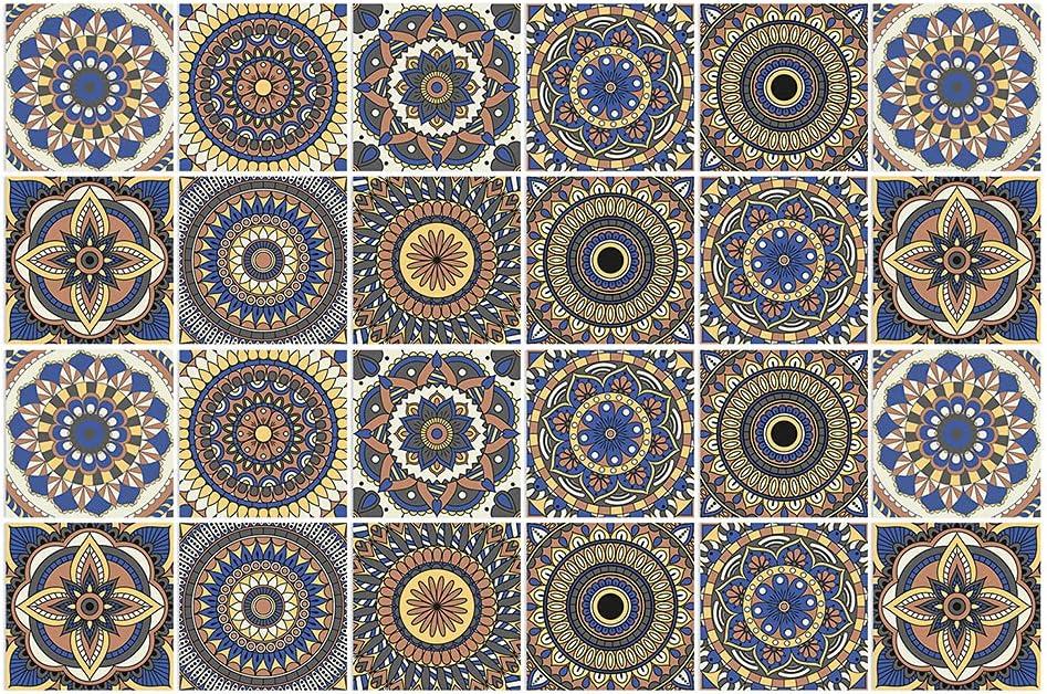 BROWSHAPER 24pcs Backsplash Tile Stickers Fashion W Stick Portland Mall Peel Wallpaper