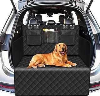 Alfheim-Hund Auto Sitzbezug Nonslip Gummirückseite mit Ankern Universal Design für Alle Cars, Trucks & SUV, Schwarz