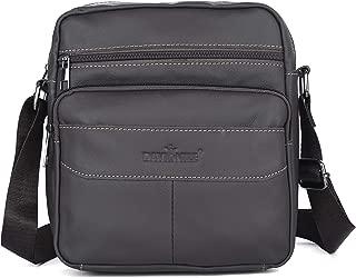 Messenger Bag, Genuine Leather Shoulder Bags,Travel Bag Man Purse Crossbody Bags for Work Business, Mens Bag DAVIDNILE