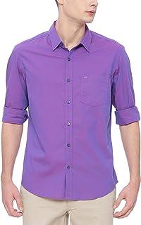 BASICS Slim Fit Pansy Purple Chambray Shirt