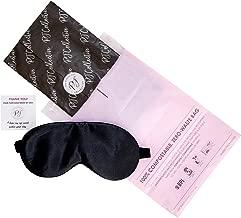 PJ Collective Silk Sleep Mask   Premium 100% Mulberry Silk Eye Mask   Adjustable Strap Sleeping Mask   Eco Gift Wrapped (Black)