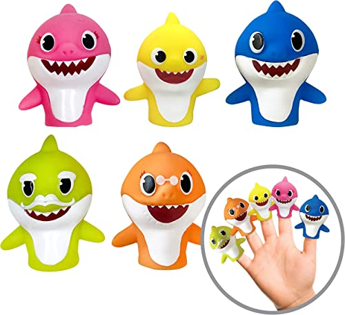 Ginsey Finger Puppets, Baby Shark (Pack of 5)