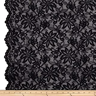 TELIO Black Izabel Lace Fabric by The Yard