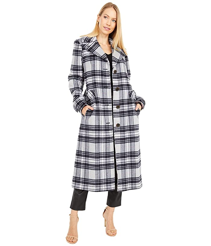 1930s Style Coats, Jackets | Art Deco Outerwear Kate Spade New York Plaid Belted Wool Maxi Coat Grey Plaid Womens Coat $438.00 AT vintagedancer.com