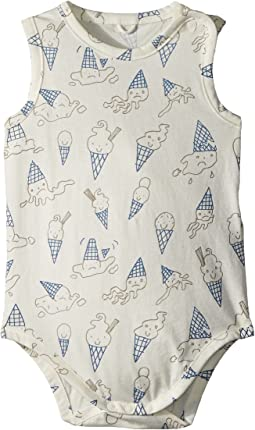 Gizmo Sleeveless Footie w/ Ice Cream Print (Infant)