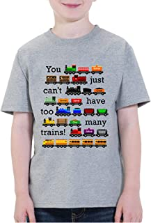 Waldeal Kids Too Many Trains Girls Boys Long Sleeve Cute Trains Graphic T-Shirts