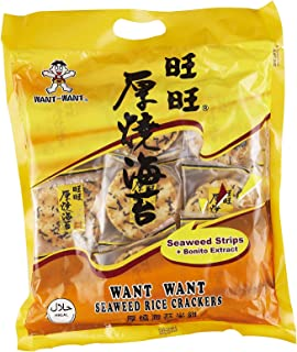 Want Want Seaweed Rice Crackers 308 g, 308 g, Seaweed Rice Cracker