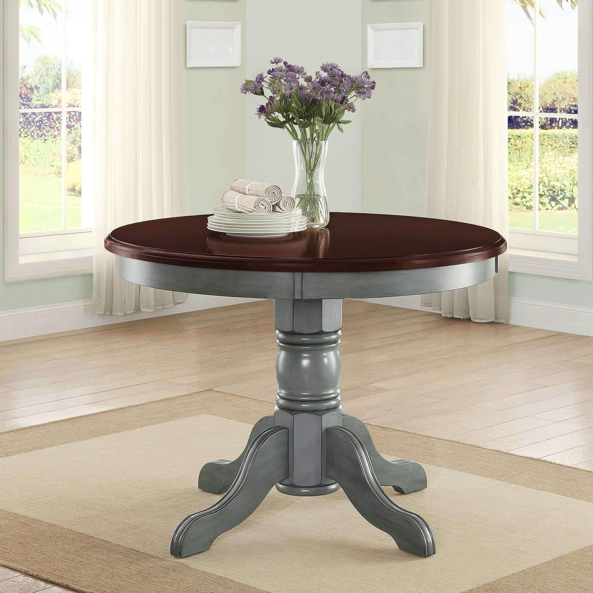 Amazon Com 42 Round Table Top Easily Accommodates Seating For 4 Multi Step Blue Tables