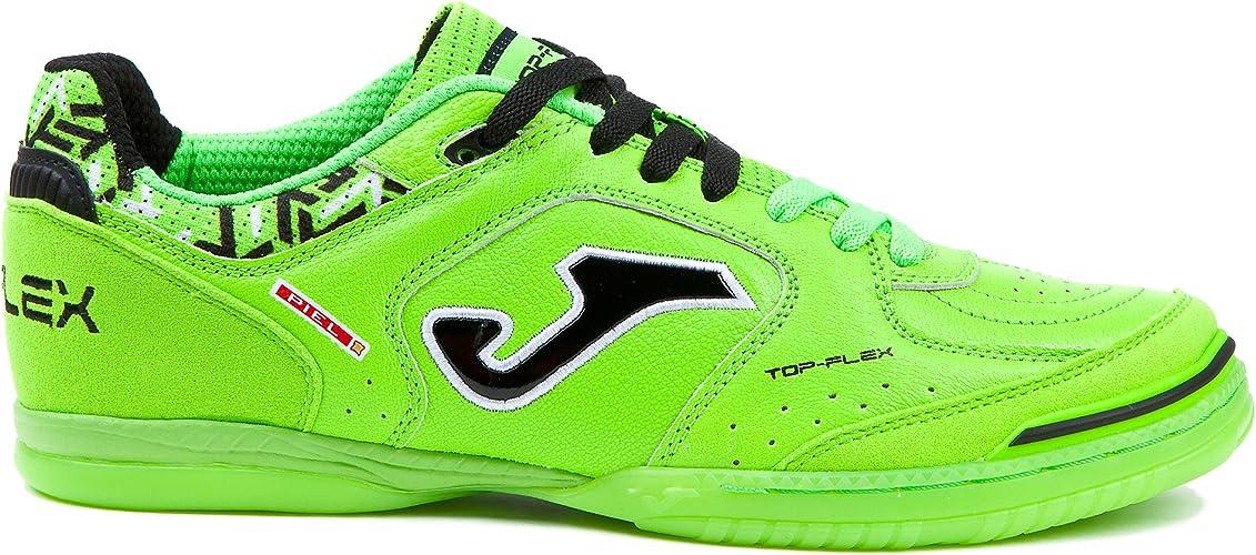 Joma Top Flex 811 Fluo Turf - Chaussure de football pour hommes (EU 40 - CM 25.5 - UK 6, Vert)
