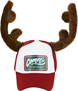 "amscan Christmas Trucker Hat with Plush Antlers, Adult, 10"" x 6"""