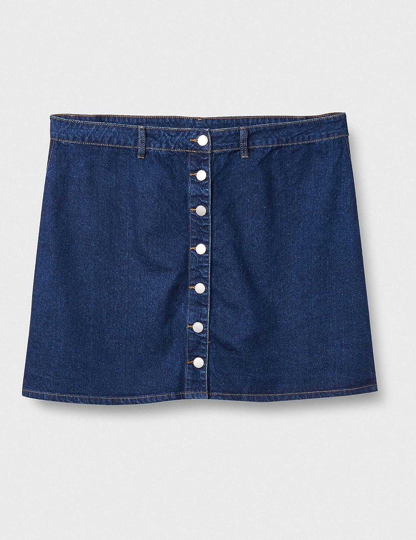 City Chic Women's Apparel Women's Plus Size Skirt Denim a Line