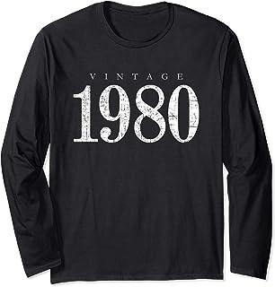 Jahrgang 1980 (Vintage Weiß) 40. Geburtstag Geschenk Langarmshirt