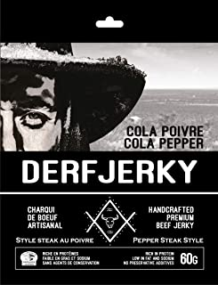Derf Jerky Cola Pepper Premium Handcrafted Pepper Steak Style Beef Jerky 60g