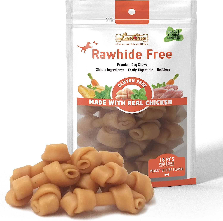 LuvChew Premium Peanut Butter Dog Some reservation Rawhide Alternative Bones Ma Weekly update