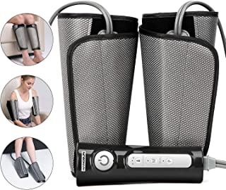 Hangsun Leg Massager for Circulation Air Compression Foot Calf Arm Wrap Massage Muscle Pain Relief MC70 with Rechargeable Handheld Controller 2 Modes 3 Intensities