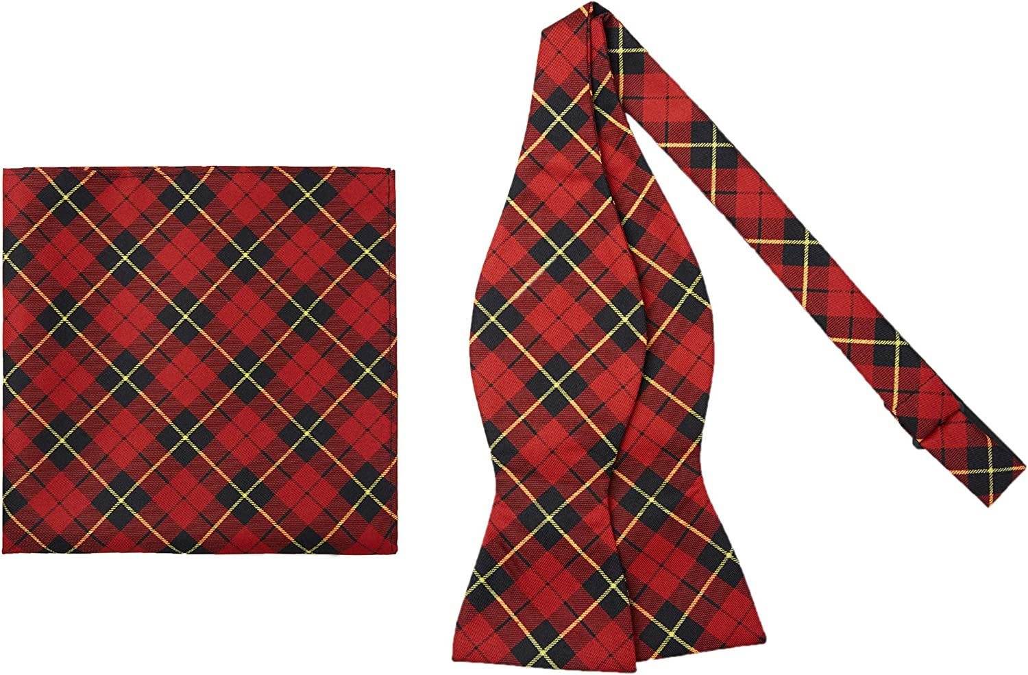 Jacob Import Alexander Royal Tartans 4 years warranty Plaid Men's and P Self-Tie Bow Tie