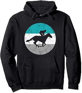 Horse Racing Jockey Retro Gift For Men Women Boys & Girls Pullover Hoodie