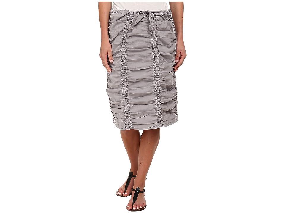 XCVI Double Shirred Panel Knee Length Skirt (Cirrus Grey) Women