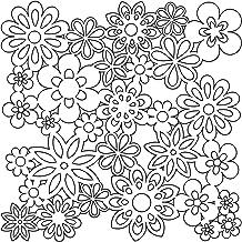 "Bible Journaling Stencils - Gathered Flowers (6"" X 6"")"