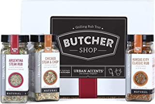 Urban Accents BUTCHER SHOP, Gourmet Grilling Spice Rub Gift Set (Set of 3) - Ultimate BBQ Seasonings Gift for Grill Masters- Perfect Gift for Him, Weddings or Any Occasion