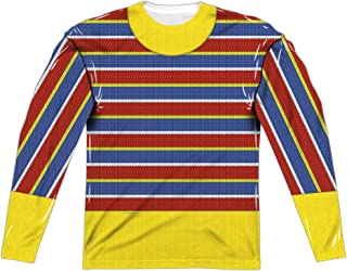 Sesame Street Classic TV Show Ernie Costume Adult Front/Back Print Poly Crewneck