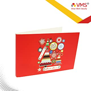 VMS Thermal Soft Photo Album Cover|Style Christmas & Happy Year |Colour Red | Size 5R 177.8mm x 127mm/5X7 Photo Paper Album Cover