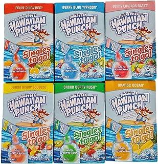 Hawaiian Punch Singles to Go Sugar Free Packets Variety 8 Ct 6 Boxes