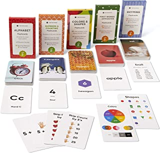 Think Tank Scholar Preschool Flash Cards Learning Bundle - Alphabet, Numbers & Counting, Colors & Shapes, First Words & Op...