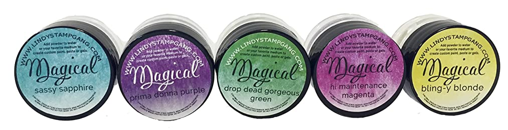 Lindy's Stamp Gang Drop Dead Diva Magical Set Jars, 0.25 oz