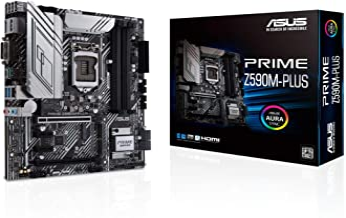ASUS Prime Z590M-PLUS LGA 1200(Intel11th/10th Gen) microATX Motherboard (PCIe 4.0, 10 Power Stages, 3X M.2 Slot,Thunderbol...