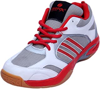 ZEEFOX 3300F Men's PU Badminton Shoes Red/White