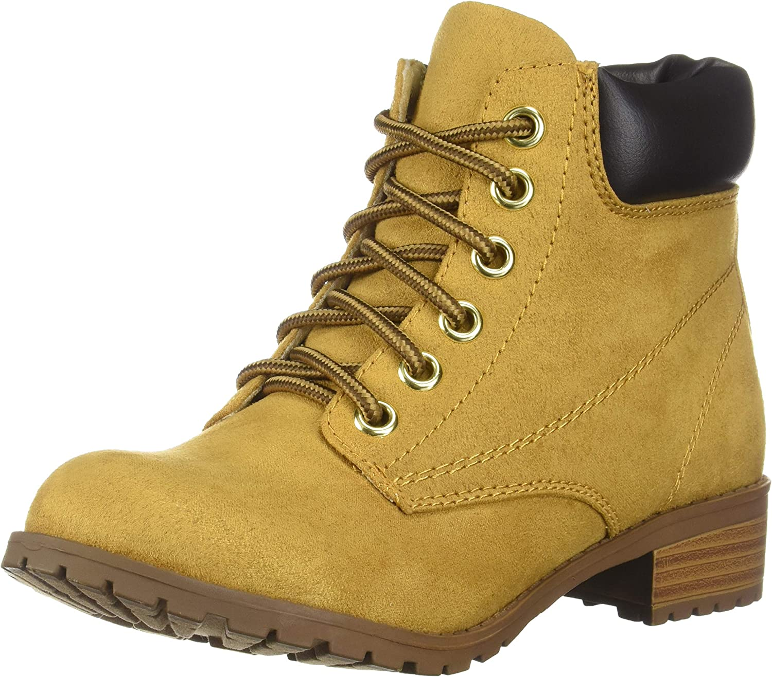 Soda Womens Equity-S Padded Collar Ankle Lace Up Boot