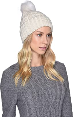 acf0d9af5a5 Ivory Metallic Plaited. 29. UGG. Cable Knit Pom Beanie