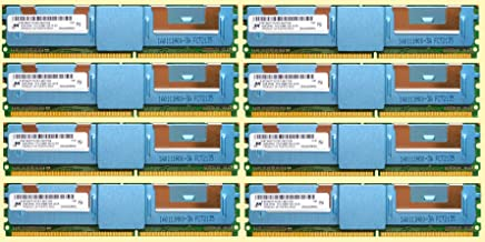 Dell 64GB Kit ( 8 x 8GB ) DDR2 5300F 677MHz Fully Buffered ECC Server Memory Ram for Dell Poweredge 1950 2950 6950 Precision 690 T7400 HP Compatible